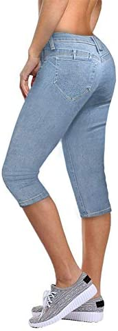 Women's Butt Lift Super Comfy Stretch Denim Capri J