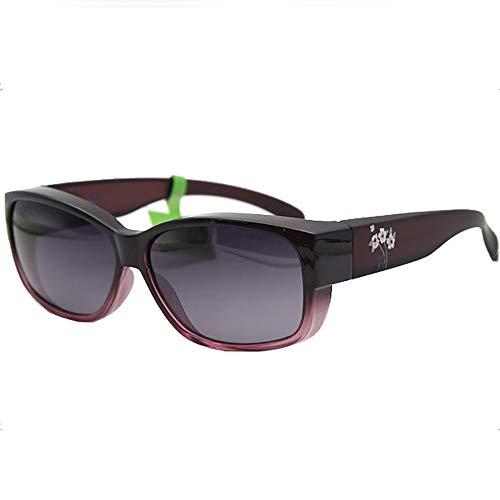 miaopai Sonnenbrille Polarisierter GroßEr Rahmen, Der Unisex-Sonnenbrillen FäHrt [Lila Progressive Box/Graue Linse]