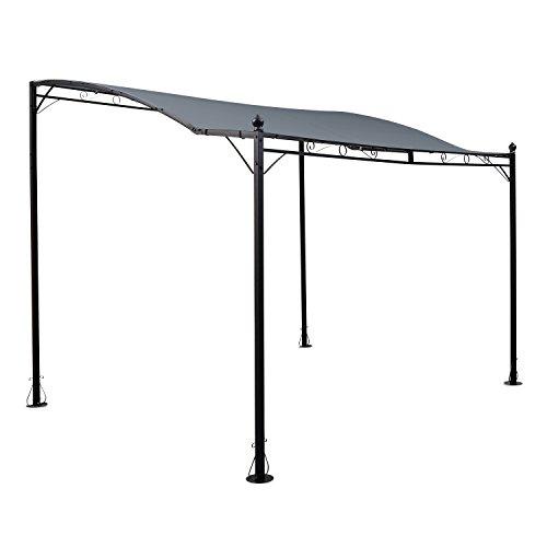Blumfeldt allure • tettoia • pergola • tetto da giardino • gazebo • 300 x 250 cm • poliestere • rivestimento impermeabile • costruzione stabile • acciaio • verniciato a polvere • grigio scuro