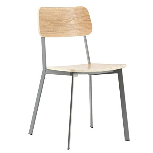 Esszimmerstuhl SEMESTER grau Stapelstuhl Wartezimmer Stuhl Konferenzstuhl Küchenstuhl