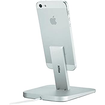 Twelve South HiRise Charging Dock for iPhone/iPad mini, silver | Adjustable stand, requires Apple Lightning cable