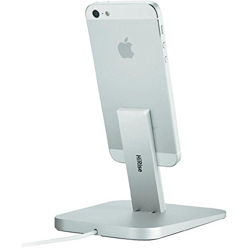 Twelve South 12-1307 Hirise Desktop Stand (geeignet für Apple iPhone 6/6s, 6/6s Plus, 5, 5s, 5c / iPad mini / iPod touch) silber (Ipod Mini Case Mit Ständer)