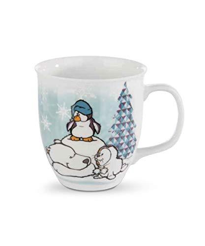 Nici 42059 Winter Porzellantasse mit Eisbär Bignic und Pinguin Toddytom, 9,5 x 10 cm, weiß Preisvergleich