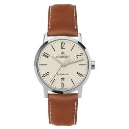 Michel Herbelin Unisex Erwachsene Analog Uhr mit Leder Armband 1669/07GO
