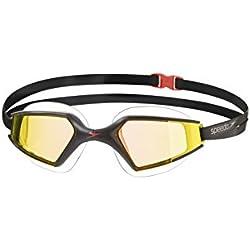 Speedo Aquapulse Max Mirror - Gafas de natación unisex, color negro / naranja
