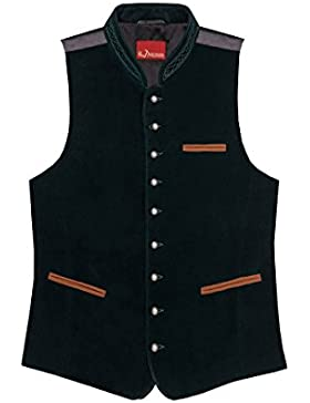 Moser® Herren Samtweste dunkelgrün Fredl 002167