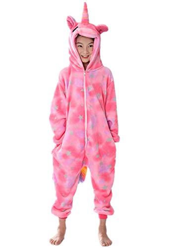 Pigiama unicorno bambina inverno travestimenti divertenti costume di halloween cosplay easter natale carnevale abbigliamento flanella tuta animale intero romper jumpsuit onepiece regalo per compleanno