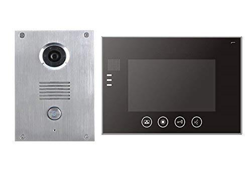 2 Draht Video Türsprechanlage Gegensprechanlage 7\'\' Monitor Klingel Farb Kamera (schwarz 1 Monitor)