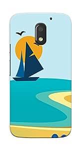 Kaira High Quality Printed Designer Back Case Cover For Motorola Moto E3 Power(Beach_Summer)