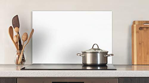 Glasvision | Küchenrückwand aus Glas | Spritzschutz | Memoboard | Herdabdeckplatte (60 x 40 cm, Premiumglas Weiß)
