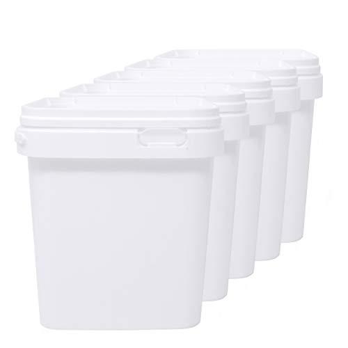 D' Luxy Set 5 Eimer aus Polypropylen für Lebensmittel, 2,5 L (18x16 cm). Recycelbare, 100% BPA-frei.