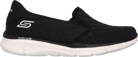 Skechers Damen Equalizer Say Something Sneakers Black/White