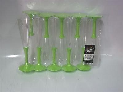 bicchieri-flute-maxi-160cc-plastica-con-gambo-verde-mela-10-pz