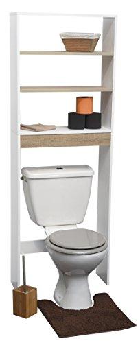 Preisvergleich Produktbild Toiletten-Überbau fürs Badezimmer - 2 Regalbretter und 1 Ablage - Skandinavischer Stil
