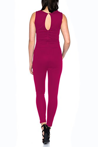 Eleganter Jumpsuit Overall von Crazy Age S-XL (L, Bordeaux) - 3