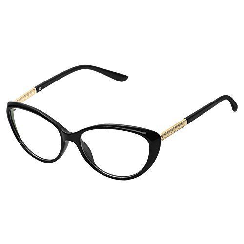 Forepin® Katzenauge Elvis Stil Brille Rahmen 50er 60er Jahre Partybrille Sonnenbrille Streberbrille