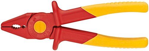 KNIPEX 98 62 01 Greifzange aus Kunststoff isolierend mit Weichkunststoff-Zone für sicheren Halt 180 mm