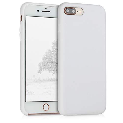 Kwmobile apple iphone 7 plus / 8 plus cover - custodia per apple iphone 7 plus / 8 plus in silicone tpu - back case cellulare bianco