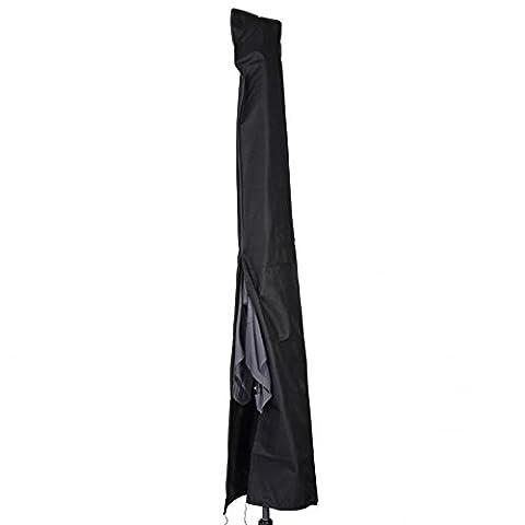 Sonnenschirm Schutzhülle Ø4m schwarz Polyester Stoff Abdeckung Gartenschirm (Gartenschirm Abdeckung)