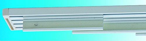Bastone binario in alluminio bianco per tende a pannelli l.180 con 3 calate(pannelli in tessuto esclusi). solo da casafiorentina garanzia 10 anni su rottura e malfunzionamento