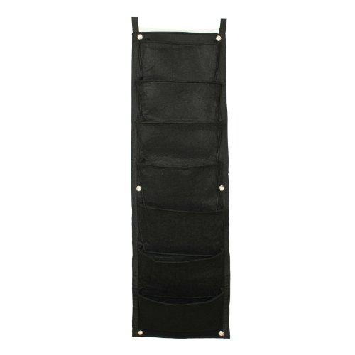 2-TECH Wandbegrünung Vertikaler Garten living wall vertical wall 100 cm * 30 cm Wandbegrünung ideal für neben der Tür mit 7 Taschen Fassadenbegrünung