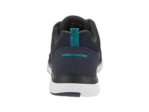 Skechers Flex Advantage 2.0-Golden Point, Baskets Basses Homme Bleu Marine