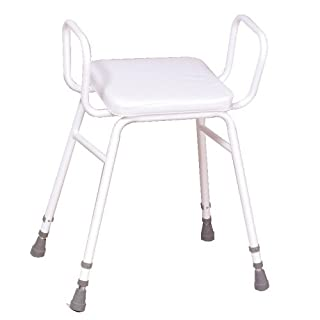 NRS Healthcare F19741  Malvern Adjustable Height Perching Stool with Armrests (Eligible for VAT relief in the UK)