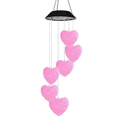 Windspiel Licht LED Garten Hängen Farbwechsel Spinner Lampe Klang Spiele Windklangspiel Für Wohnzimmer Kinderzimmer Party (A) ()