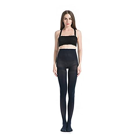 MANZI Women's 2 Pairs Classic Opaque Control-Top Tights with Comfort Stretch 70 Denier