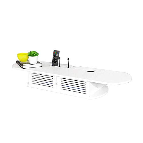 Willesego Set Top Box Regal Doppeltür Router Regal Wohnzimmer Videowand Wandregal Punch Free, Weiß (Farbe : -, Größe : -) - Tief Regal Holz Bücherregal