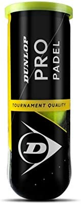 Dunlop TB Pro Padel Pelotas Bote, Adultos Unisex, Amarillo, 3 Uni