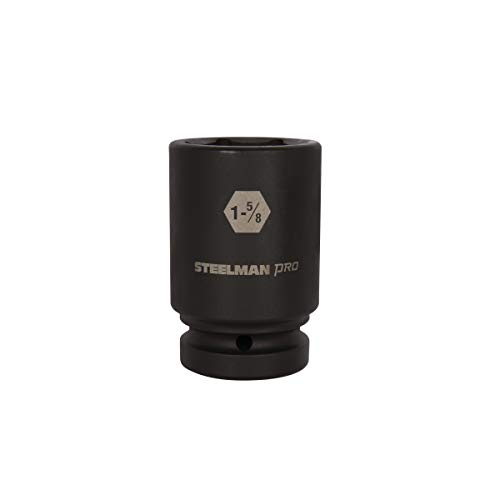 STEELMAN PRO 79394 1-Inch Drive x 1-5/8-Inch 6-Point Deep Impact Socket -