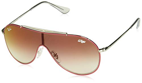Ray-Ban Unisex-Erwachsene 0RJ9546S Sonnenbrille, Rot (Silver On Top Red), 45