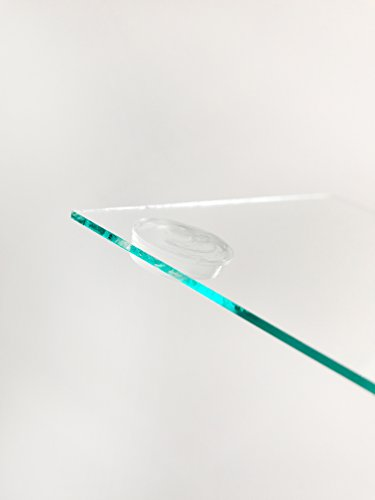HAFTPLUS Elastikpuffer 12 Stück / Anschlagpuffer Transparent / Möbelpuffer Selbstklebend / Ø 22mm, Höhe 4mm / Schutzpuffer Anschlagdämpfer