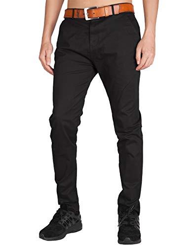 Italy Morn Chino Elasticizzati Slim Fit Nero Pantaloni da Lavoro Uomo M Nero