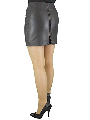 ee3c4778a3ce0 Ashwood for Tout Ensemble Black Genuine Real Luxury Soft Nappa Leather Mini  Skirt With Full Rear Zip Opening