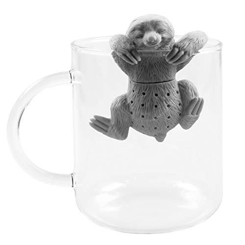 faultier teesieb PhoneNatic Niedliches Tier Faultier Tee-Ei aus Silikon (BPA-frei) für Losen Tee Tee-Infuser