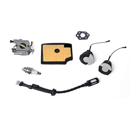 La linea del carburante dello strumento delle parti del carburatore in alluminio è adatta per MS200 / MS200T Tappo olio motore Accessori moto Kit di sostituzione messa a punto (Colore: grigio)