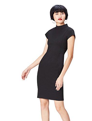FIND Damen Party Kleid Cowl Neck Schwarz (Black), 38 (Herstellergröße: Medium) (Cowl Kleid)