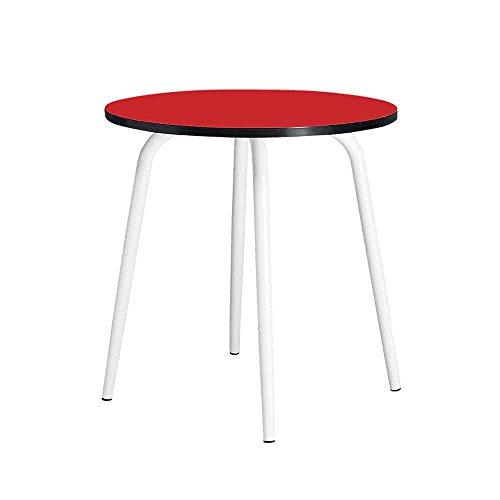 LES GAMBETTES Table LÉON Ronde Ø75CM - Rouge Coquelicot/Red