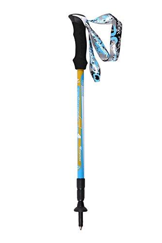 Baisde Wandern Stick Carbon Fibre Short Lightweight EVA Straight Handle 3 Sektion Einstellbare Walking Stick Trekking Pole Ski Alpenstock Outdoor Klettern Stick, blue, 1PC