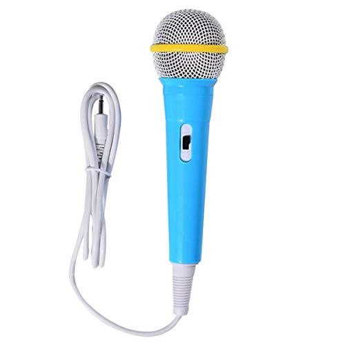 Keepart Kinder-Mikrofon mit Kabel und Musikinstrument Singen, Karaoke, für Lernmaschine, Computer, Auto, HiFi-Ausrüstung