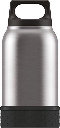 Sigg Food Container SIGG Food Jar, Thermo Lunch Box aus Edelstahl mit Bowl und Besteck, Silber - 0.5 Liter, Silber, 0.5 L, 8592.2000000000007 - Vakuum Food-kanister