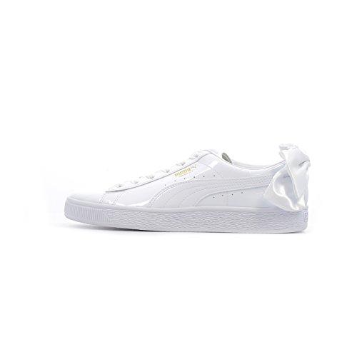 Puma WN Suede Bow PATENT.White Sneaker Damen Weiss - 35 1/2 - Sneaker Low -