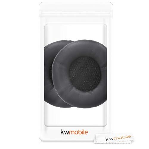 kwmobile 2X Ohrpolster für AKG K518 /K518DJ /K81 /K518LE Kopfhörer - Kunstleder Ersatz Ohr Polster für AKG Overear Headphones - 7