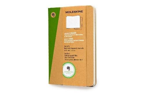 Moleskine Evernote Notizbuch (kariert, Pocket Soft Cover) 2-er-Set natur (Moleskine Journal Evernote)