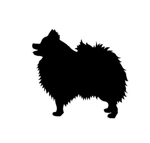 DDLLAN Auto Aufkleber Pomeranian Dog Bumper Sticker Species Tiere Haustiere Hunde Motorrad Auto Aufkleber und Abziehbilder 14 * 13CM 2 Stück -