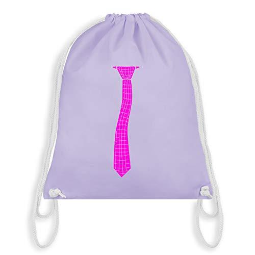 Karneval & Fasching - Krawatte Streifen Kostüm kariert - Unisize - Pastell Lila - WM110 - Turnbeutel & Gym Bag