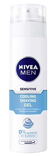 Nivea Men Sensitive Cool Gel de Afeitar sin Alcohol, Pieles Sensibles - 20 cl