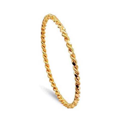Bijou Karat 1 x Ikili Burma Bilezik 24 Karat vergoldet Gold GP 24 Ayar Altin Kaplama 0,5 cm 6,4 cm ...